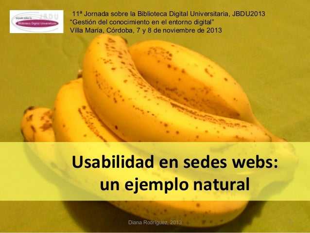 Usabilidad en sedes webs: un ejemplo natural