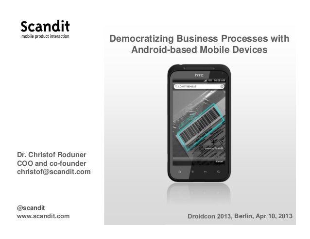 Roduner   democratizing business processes with android-based mobile devices