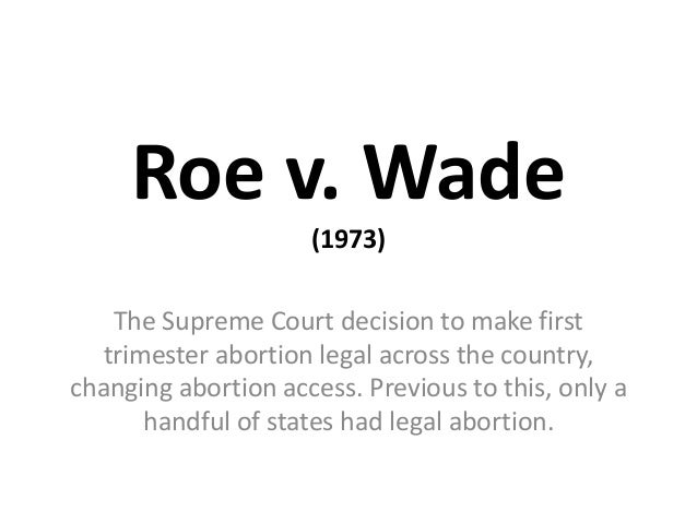 Roe V Wade Research Paper