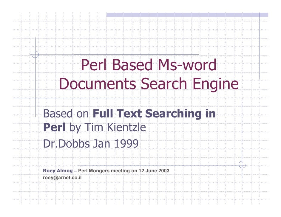 Roey Almog Search Engine