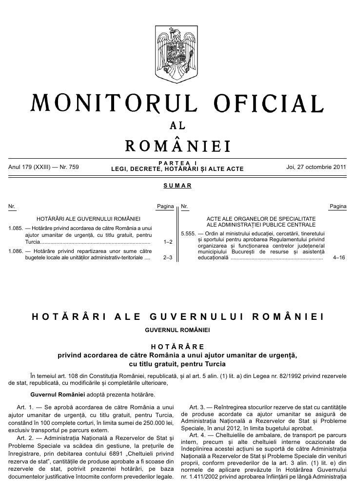 PARTEA IAnul 179 (XXIII) — Nr. 759                                    LEGI, DECRETE, HOTĂRÂRI ȘI ALTE ACTE                ...