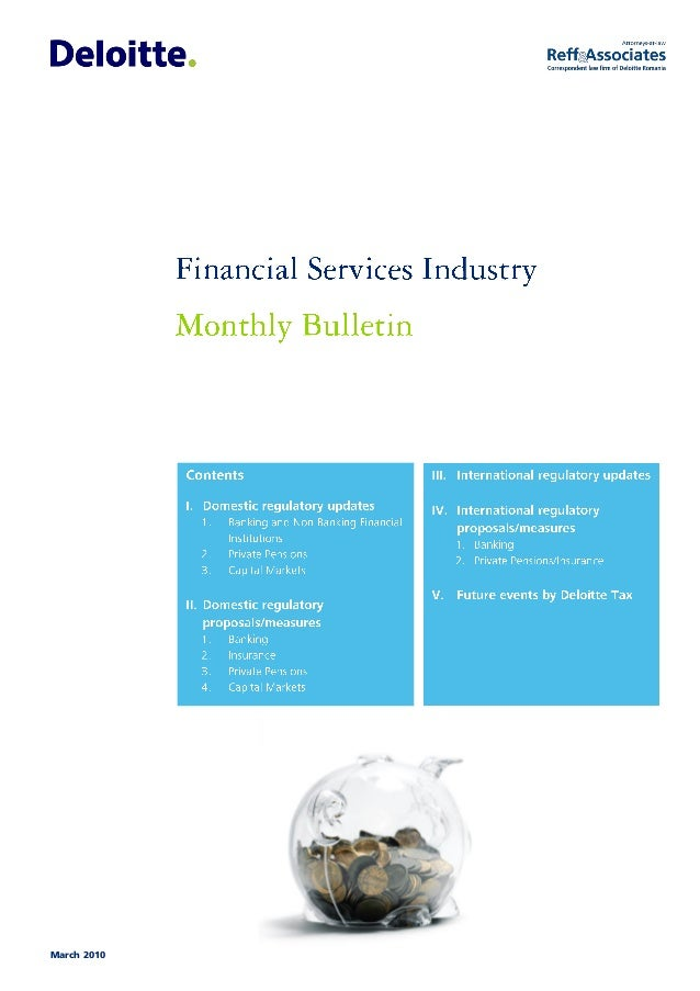 March 2010 Financial Services Industry monthly bulletin
