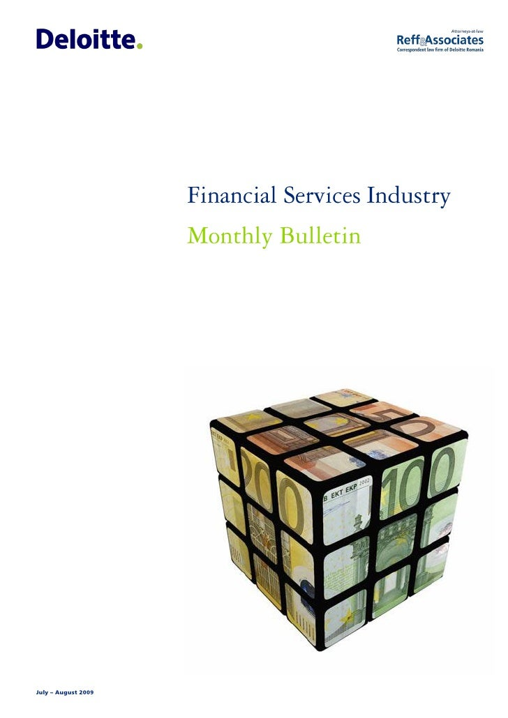 Jul - Aug 2009 Financial Services Industry monthly bulletin