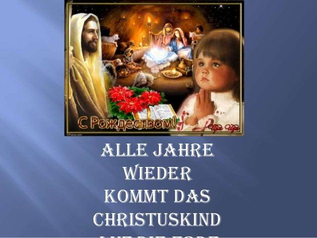 Alle Jahre wieder kommt das Christuskind