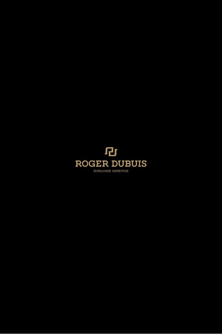 ROGER DUBUIS Watch Catalogue 2011