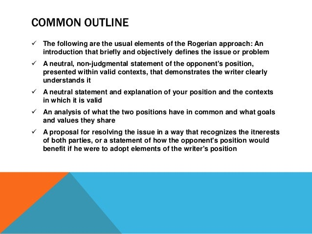 Rogerian approach essay