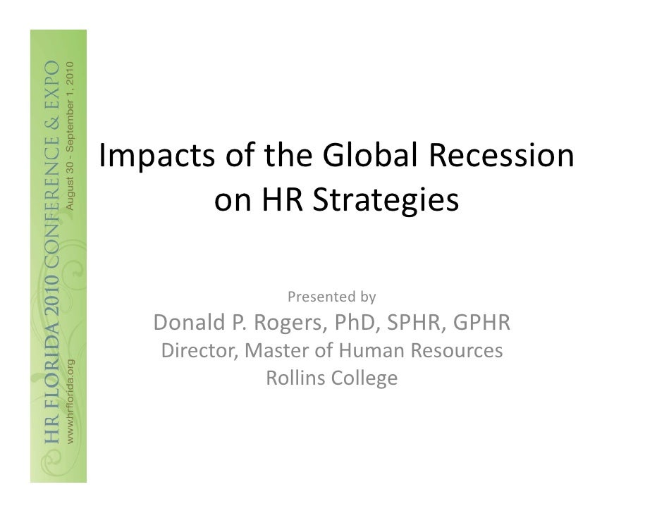 impact of global recession on it By yared hm sub-prime mortgage, credit-crunch and recession are no more jargons of economists and politicians they have become part of our day-to-day conversations.