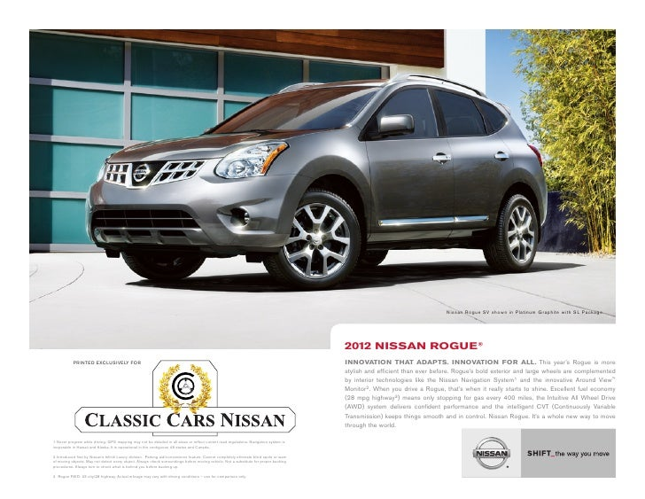 Nissan Rogue SV shown in Platinum Graphite with SL Package.                                                               ...