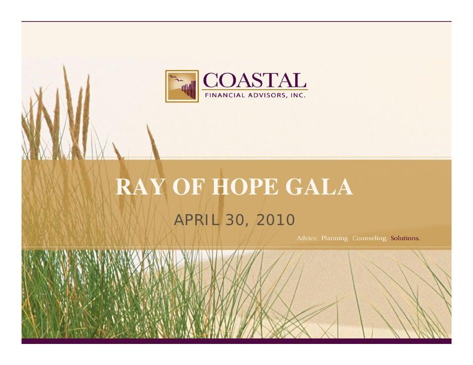 RAY OF HOPE GALA    APRIL 30, 2010