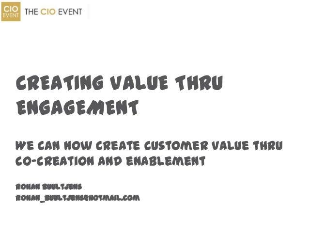 Rohan Buultjens, VP Enterprise Architecture at Etisalat - Creating value through engagement