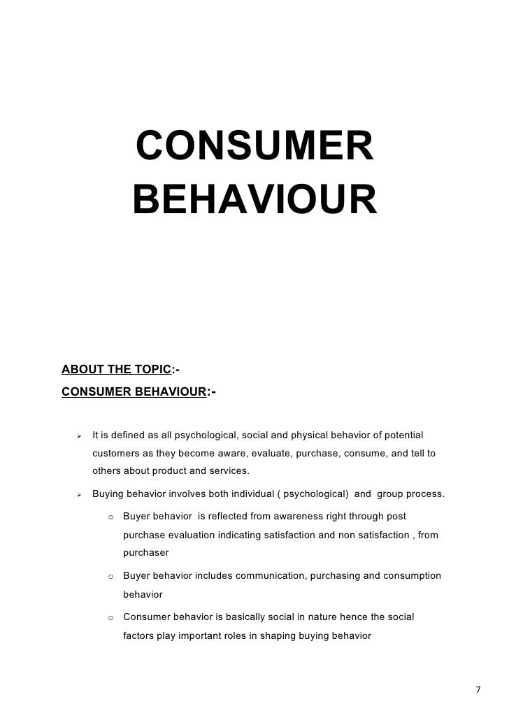 phd thesis on consumer buying behaviour Determinants of consumer behavior in an e- in presenting this thesis in partial hlfillment of the the factors influencing consumer's online buying behavior.