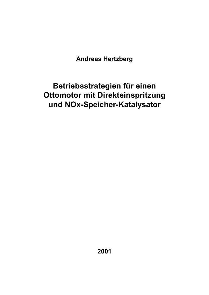 Andreas Hertzberg  Betriebsstrategien für einenOttomotor mit Direkteinspritzung und NOx-Speicher-Katalysator              ...