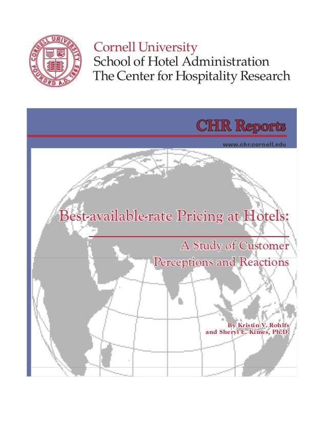 CHR Reports                                                                 www.chr.cornell.edu       Best-available-rate ...