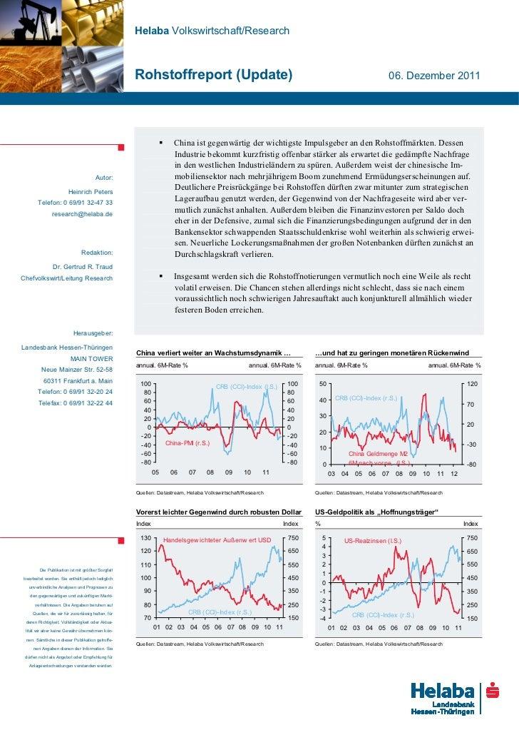 Helaba Volkswirtschaft/Research                                                   Rohstoffreport (Update)                 ...