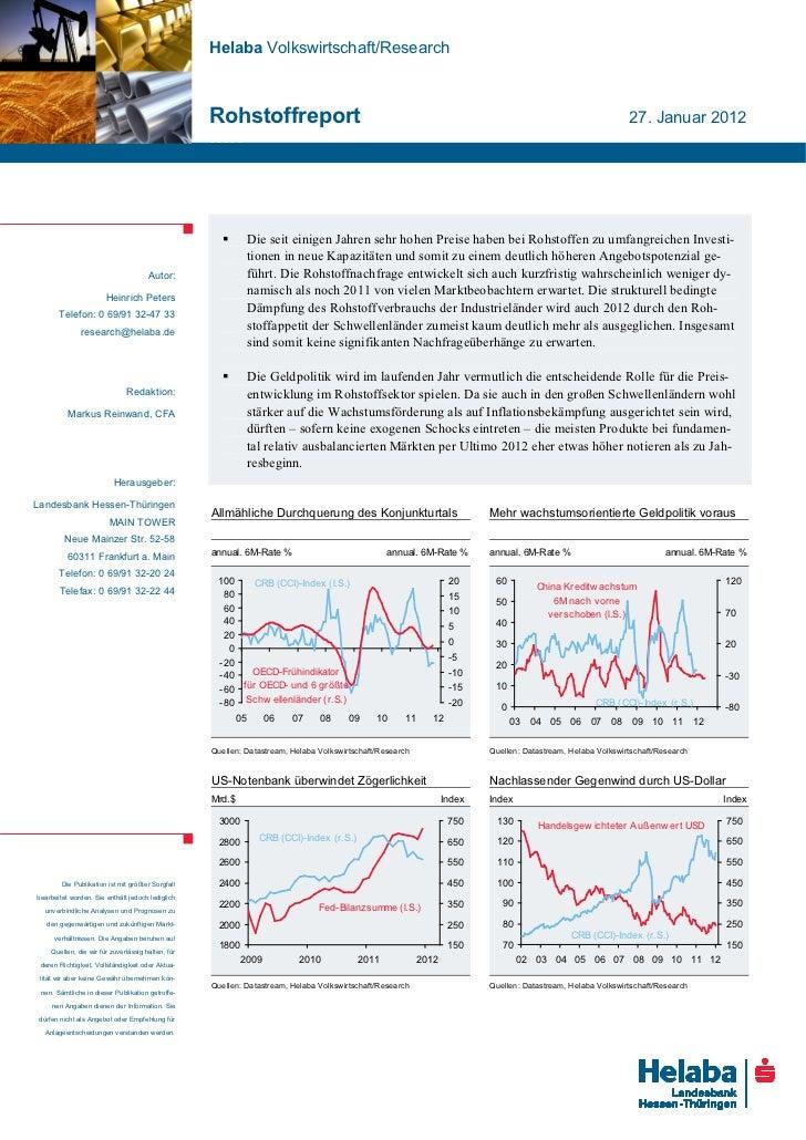Helaba Volkswirtschaft/Research                                                   Rohstoffreport                          ...