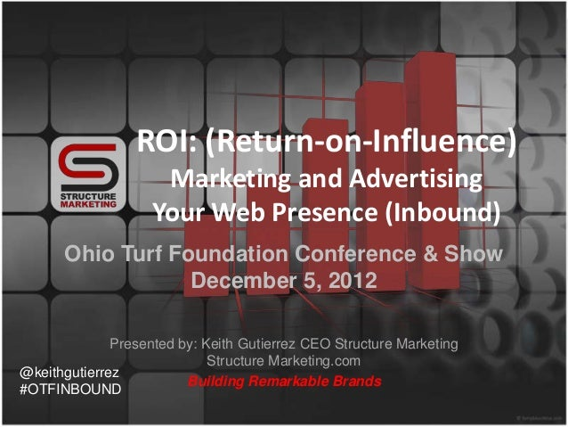 ROI: (Return-on-Influence)                     Marketing and Advertising                    Your Web Presence (Inbound)   ...