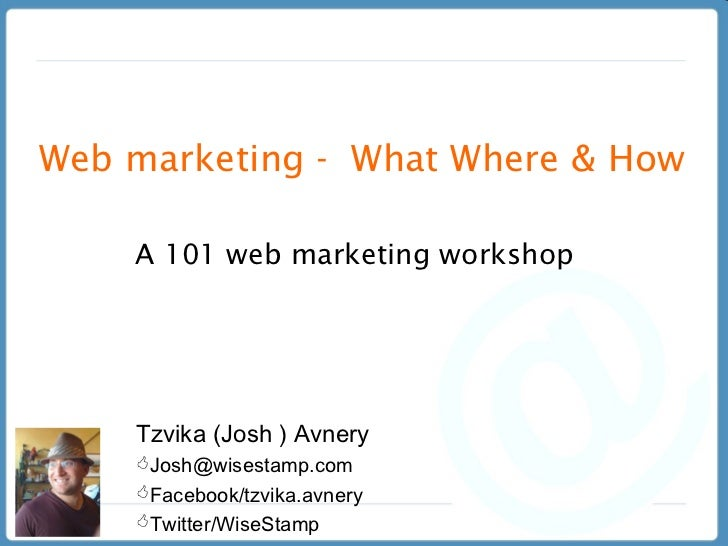Web Marketing 101