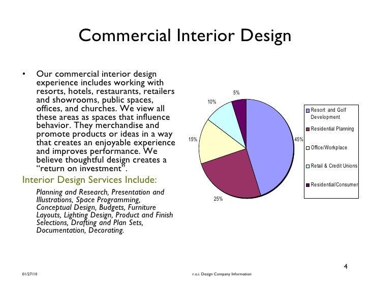 R O I Design Brochure Interior Commercial