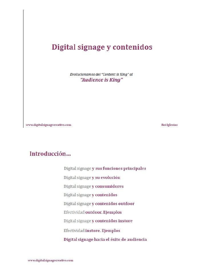 Digital Signage i continguts