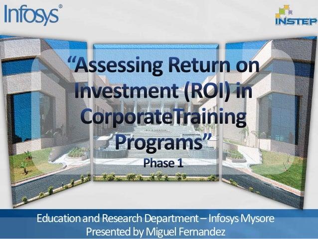 EducationandResearchDepartment–InfosysMysore PresentedbyMiguelFernandez