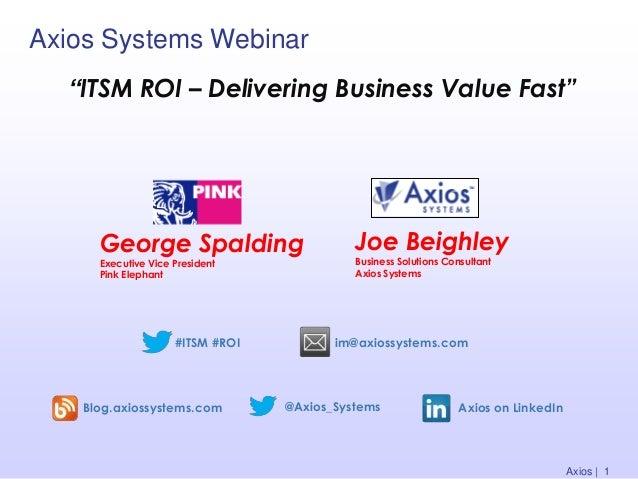 ITSM ROI - Delivering Business Value Fast