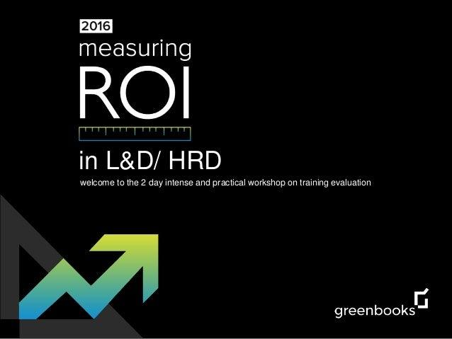 Measuring ROI in Training