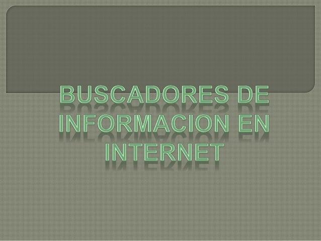 Cuando necesitamos de Internet, normalmente buscamos información sobre un tema concreto, y es difícil acceder a una página...