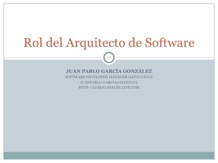 Rol Arquitecto Software