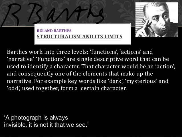 roland barthes essays mythologies Roland barthes was born at  that serves to underpin the writings in mythologies myth today, barthes  critical essays on roland barthes, new york.