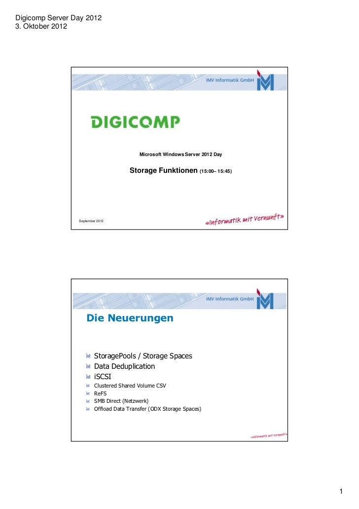 Digicomp Server Day 20123. Oktober 2012                                          Microsoft Windows Server 2012 Day        ...