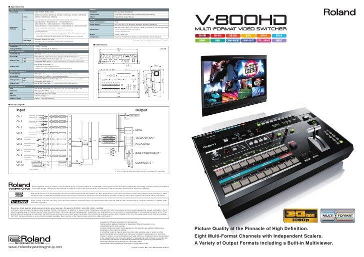 Roland V-800HD Switcher