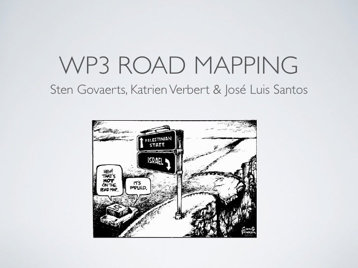 Role WP3 roadmapping