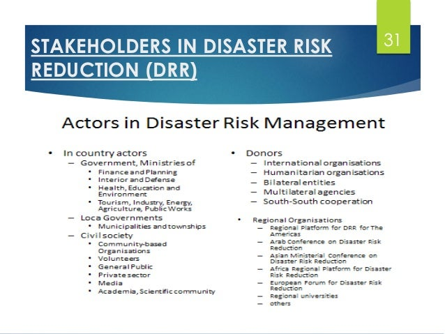 Organisations involved in disaster management