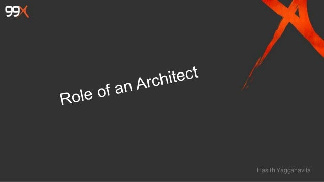 Role of an architect