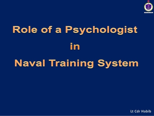 Role of a psychologist in naval training