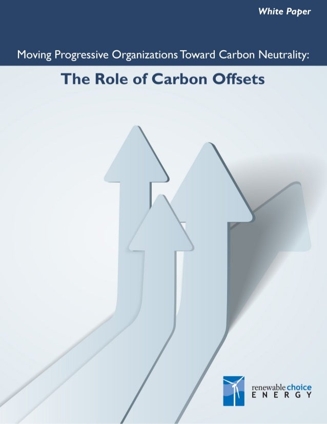 White Paper: Moving Progressive Organizations Toward Carbon Neutrality: The Role of Carbon Offsets  EXECUTIVE SUMMARY Prog...