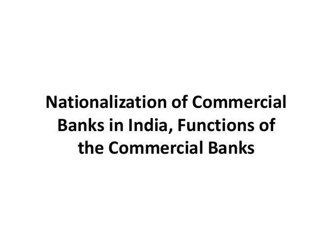 Role of Commercial Banks in India