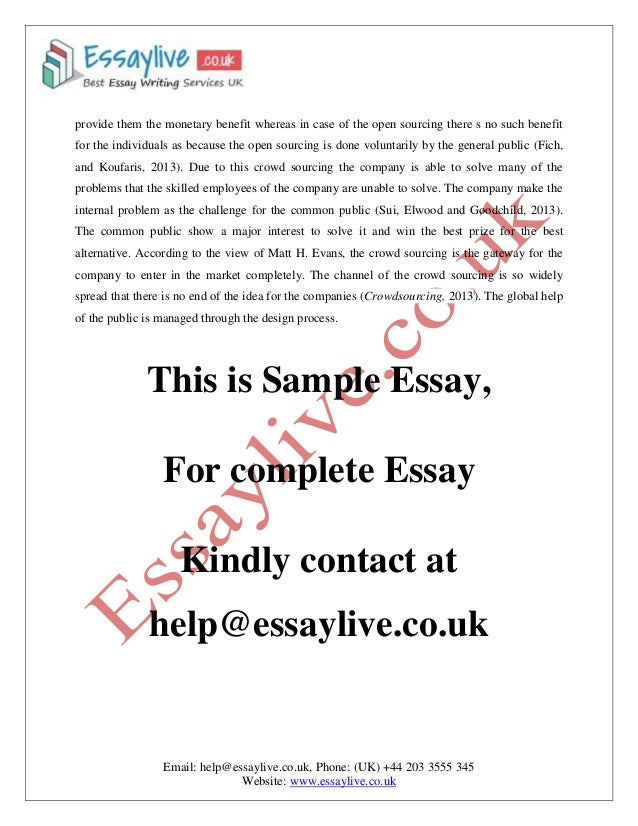 Supplement essay