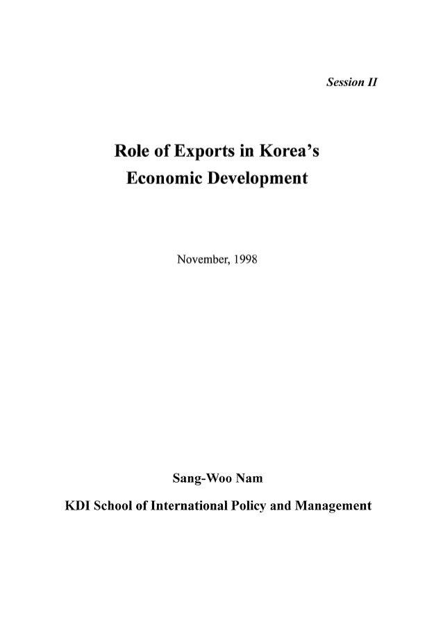 Role of Exports in Korea's Economic Development