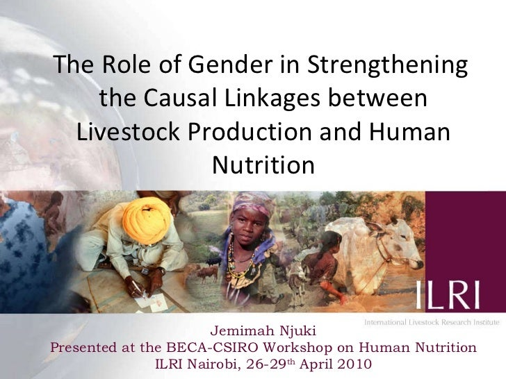 The Role of Gender in Strengthening  the Causal Linkages between Livestock Production and Human Nutrition Jemimah Njuki Pr...