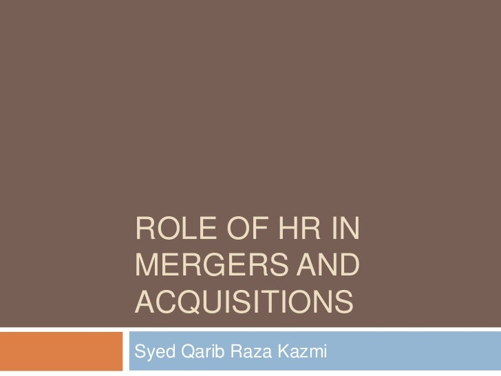 mergers and acquisitions of hr compaq There are 5 key challenges that hr faces during the merger or acquisition  process it is important to have different strategies to address each.