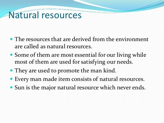 speech on natural resources
