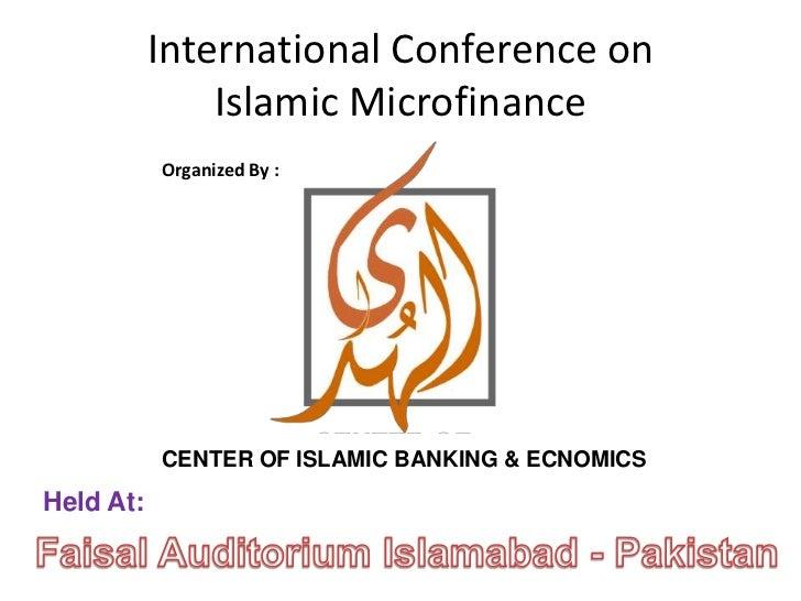 Role of it in islamic microfinance by waqas shahid
