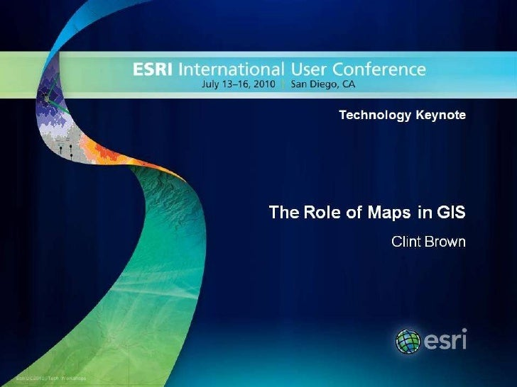 The Role of Maps in GIS<br />Clint Brown<br />