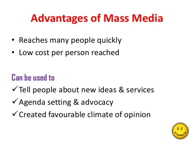 role of mass media essay Below given is a plagiarism free essay sample about effects of media on media on society the media plays a big role in society too far such as mass.