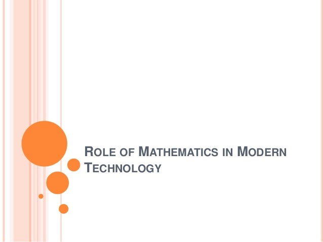 the role of mathematics The rolem educational program provides support for early years educators of mathematics the program has been developed through.