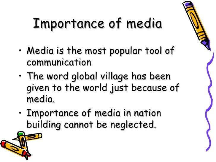 short essay on importance of mass media