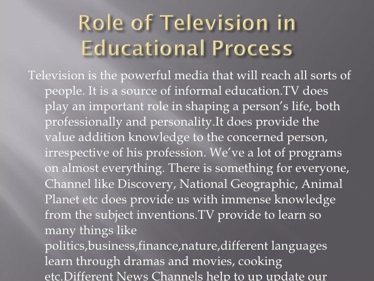 value of television essay