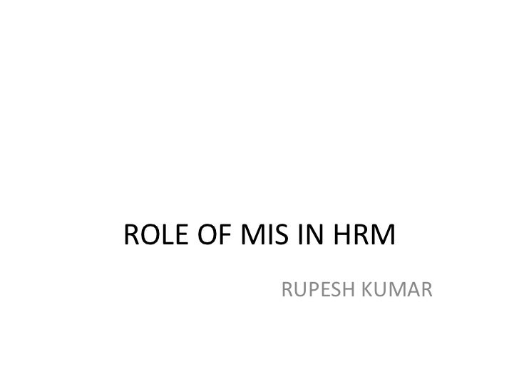 Role of mis in hrm