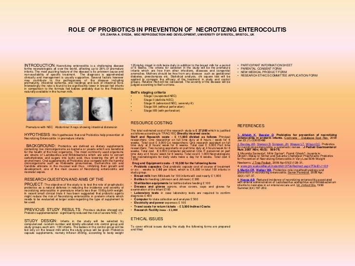ROLE OF PROBIOTICS IN PREVENTION OF NECROTIZING ENTEROCOLITIS                                                            D...